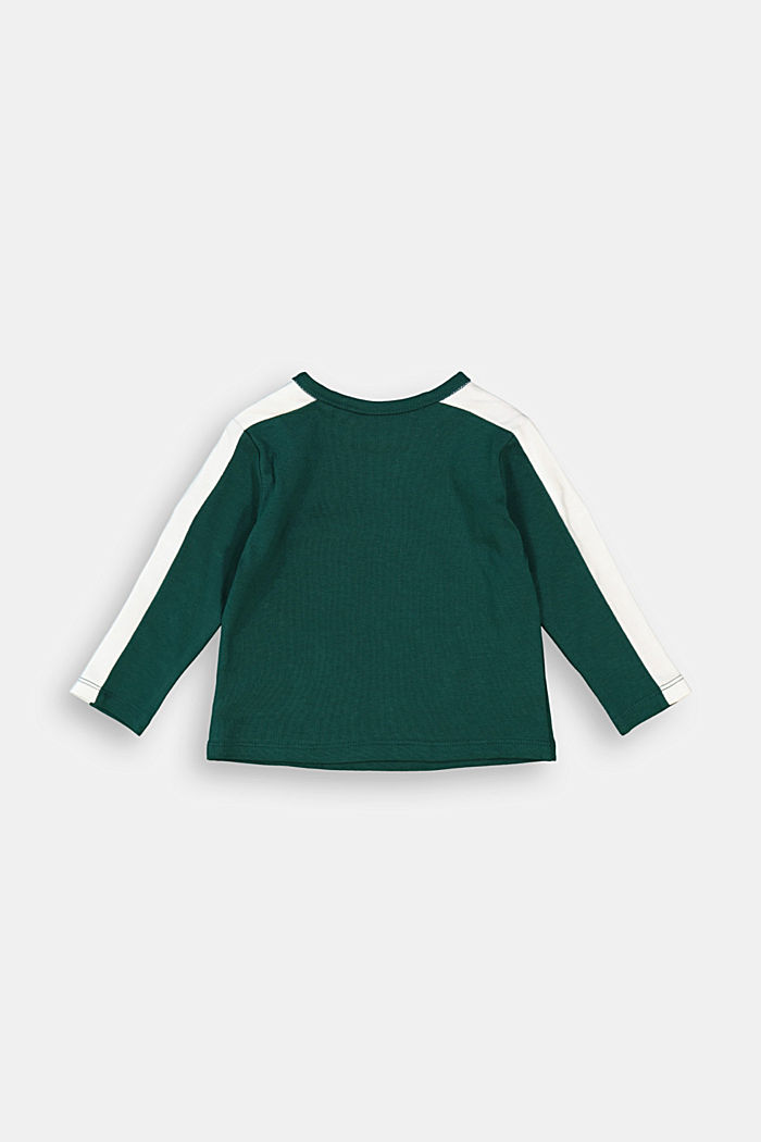 Long sleeve logo top with organic cotton