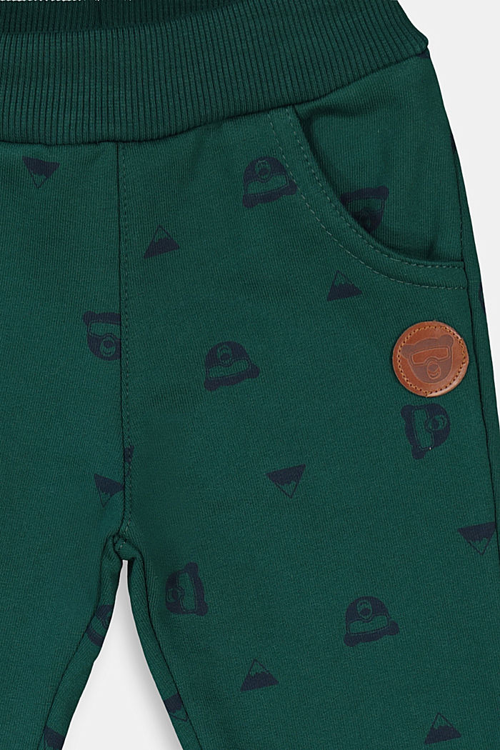 Tracksuit bottoms in 100% organic cotton, FOREST, detail image number 2
