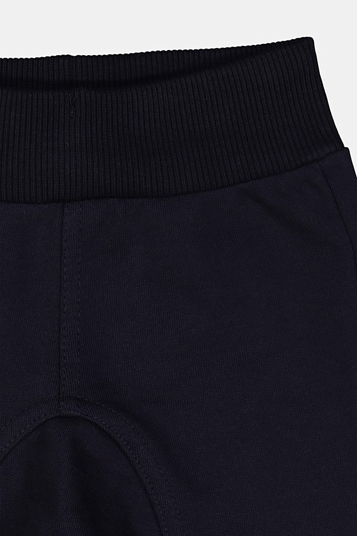 Tracksuit bottoms made of 100% organic cotton, NAVY, detail image number 2