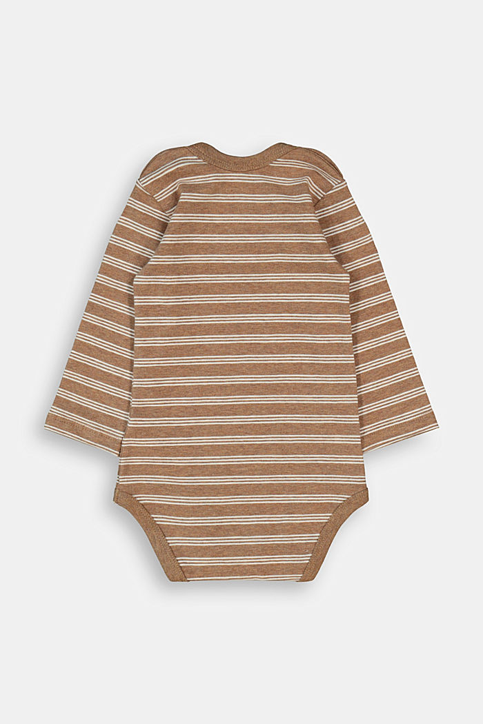 Bodysuit made of organic cotton with added stretch, TOFFEE, detail image number 1