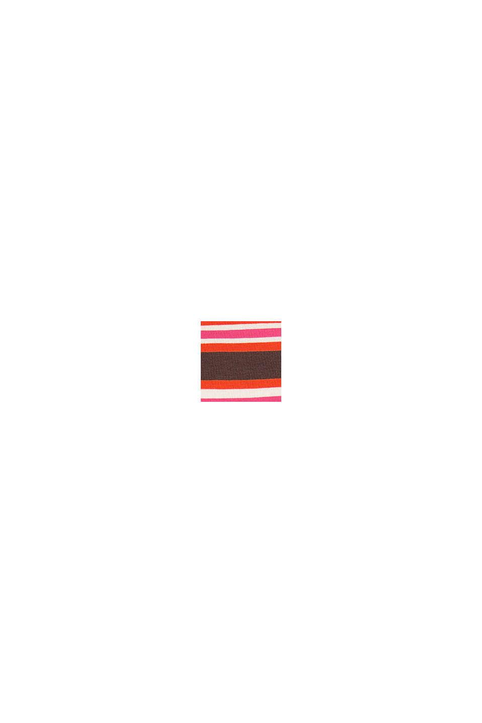 Ringel-Longsleeve aus 100% Baumwolle, DARK BROWN, swatch