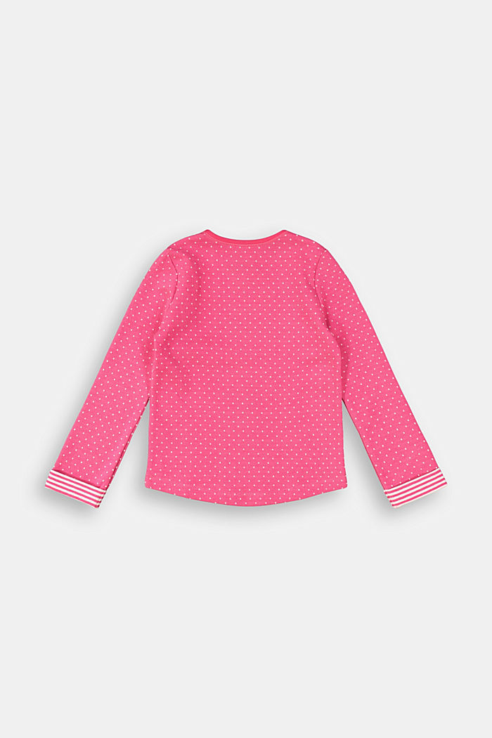 Long sleeve top with organic cotton, DARK PINK, detail image number 1