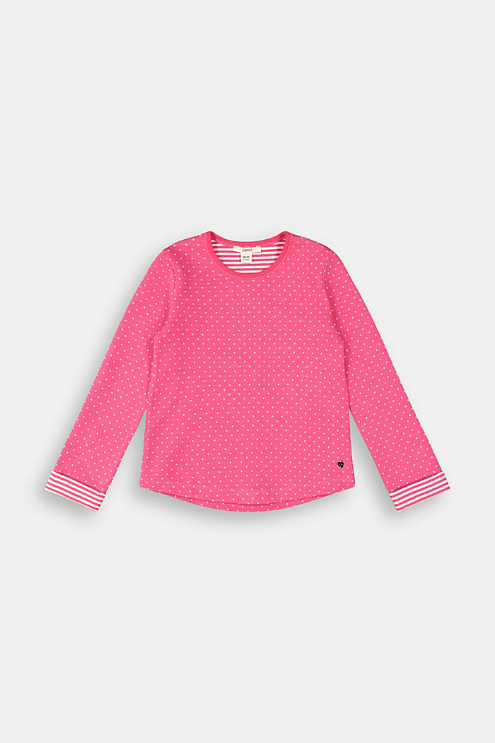 Long sleeve top with organic cotton, DARK PINK, detail image number 0