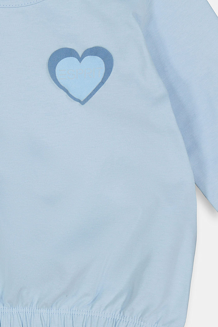 Long sleeve stretch cotton top, BLUE LAVENDER, detail image number 2