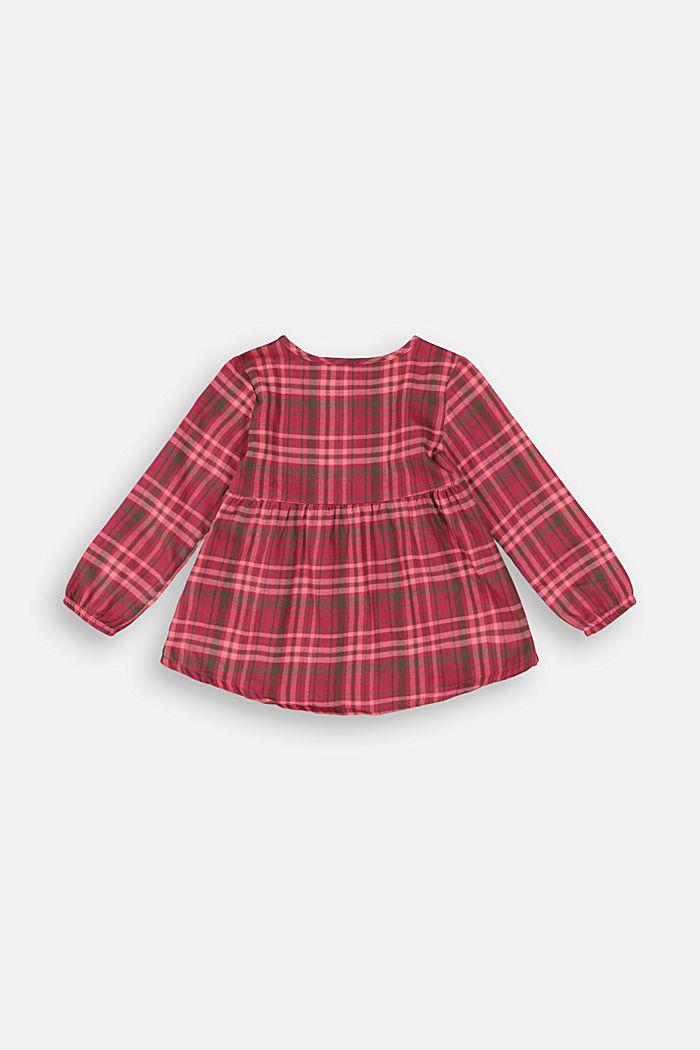Karo-Kleid aus 100% Baumwolle