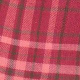 Karo-Kleid aus 100% Baumwolle, DARK PINK, swatch