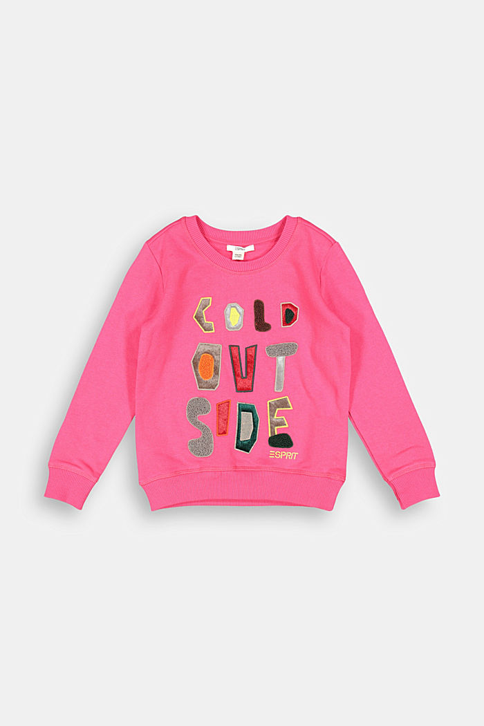 Appliquéd sweatshirt, 100% cotton