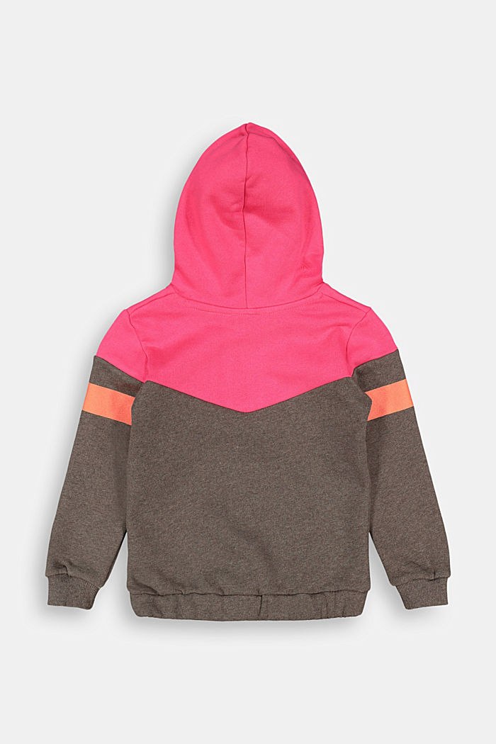 Color Block-Hoodie, 100% Baumwolle, BARK, detail image number 1