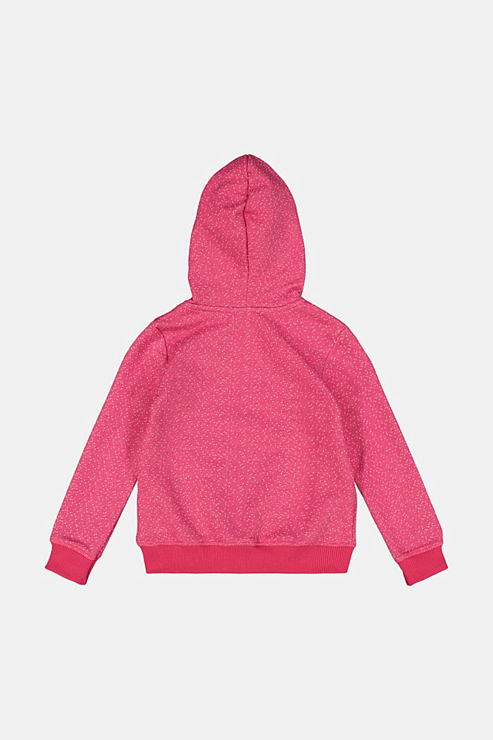 Sweatshirt jacket with organic cotton