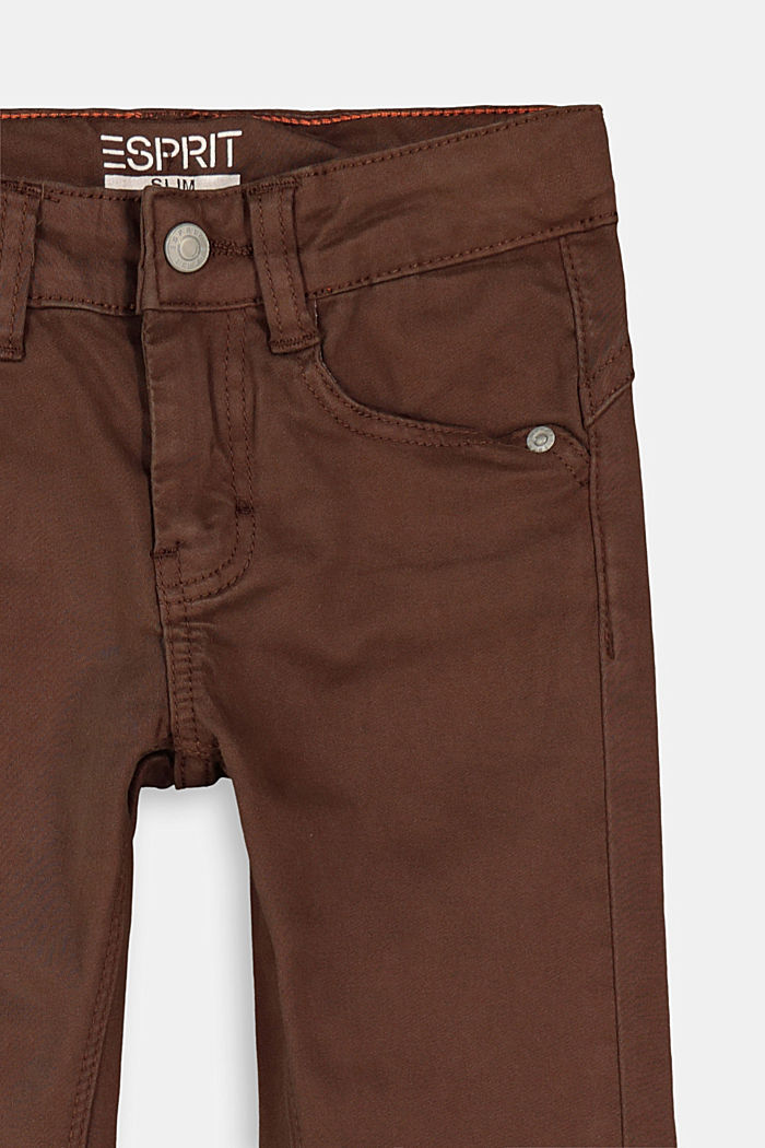 Stretch cotton trousers, adjustable waistband, BARK, detail image number 2