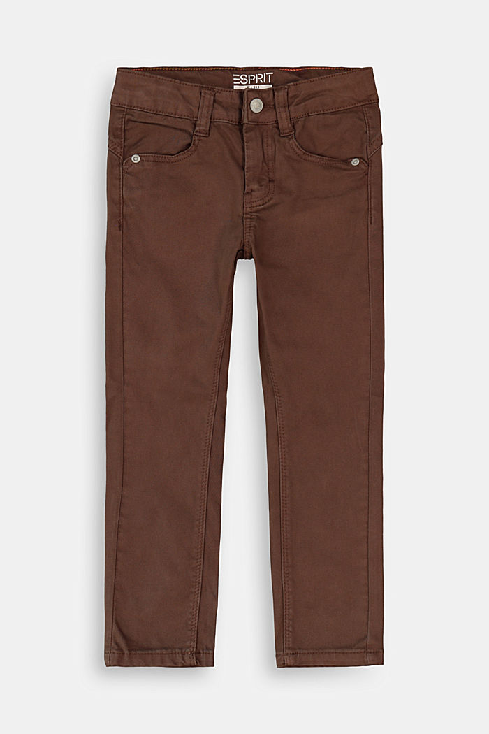 Stretch cotton trousers, adjustable waistband, BARK, detail image number 0