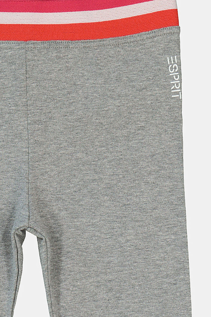 Leggings with a striped elasticated waistband, DARK GREY, detail image number 2