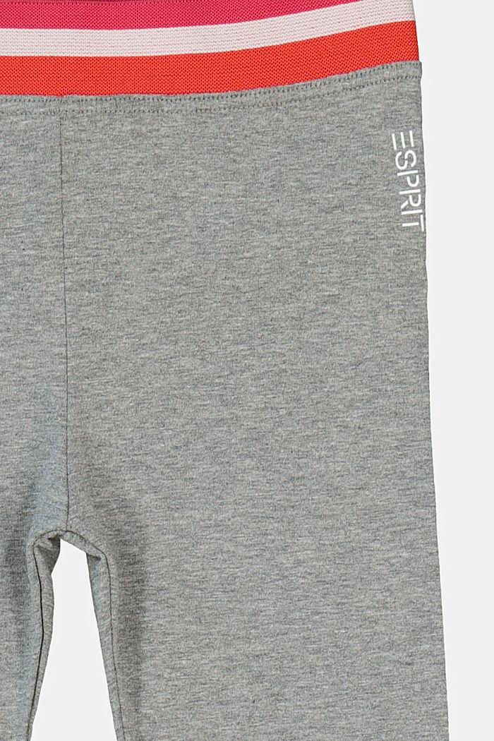 Leggings mit Streifen-Gummibund, DARK GREY, detail image number 2