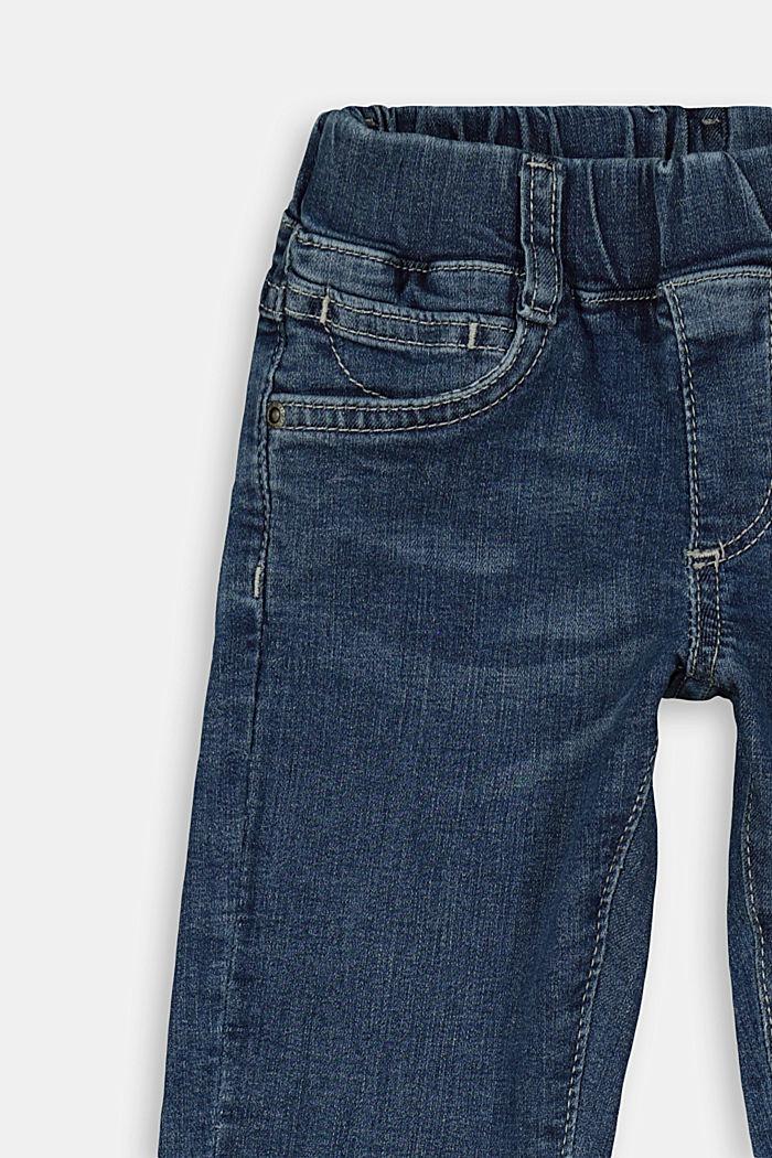 Strečové džíny s pasem na gumu, BLUE MEDIUM WASHED, detail image number 2