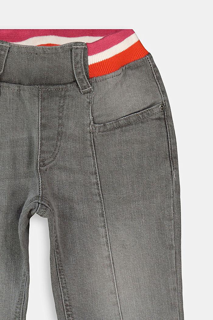 Jeans mit gestreiftem Ripp-Bund, GREY MEDIUM WASHED, detail image number 2