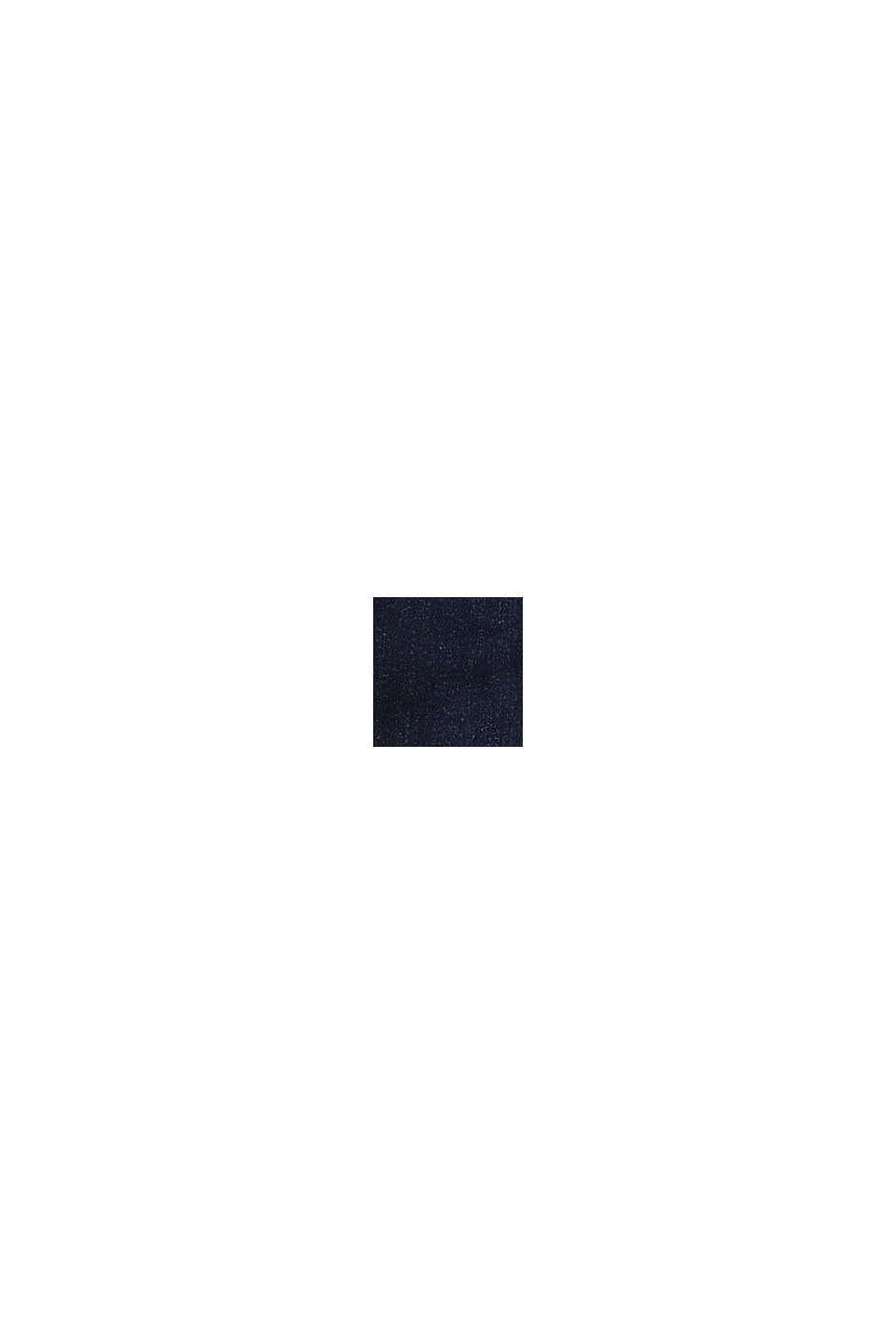 Jeans med jerseyfoder och reglerbar linning, BLUE DARK WASHED, swatch