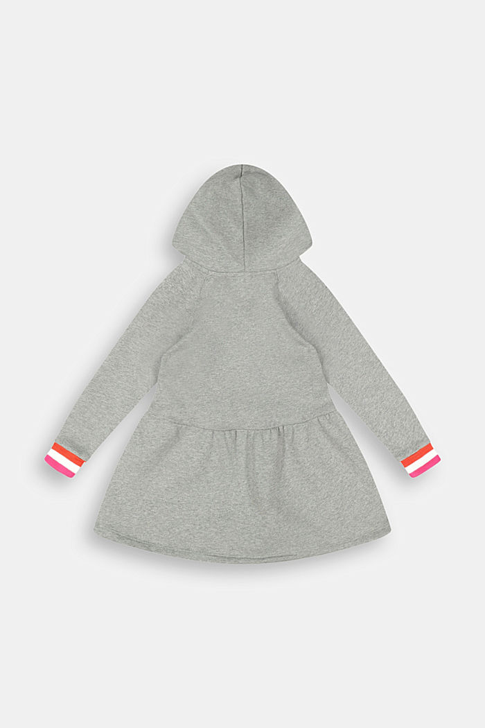 Hooded sweatshirt dress made of 100% cotton