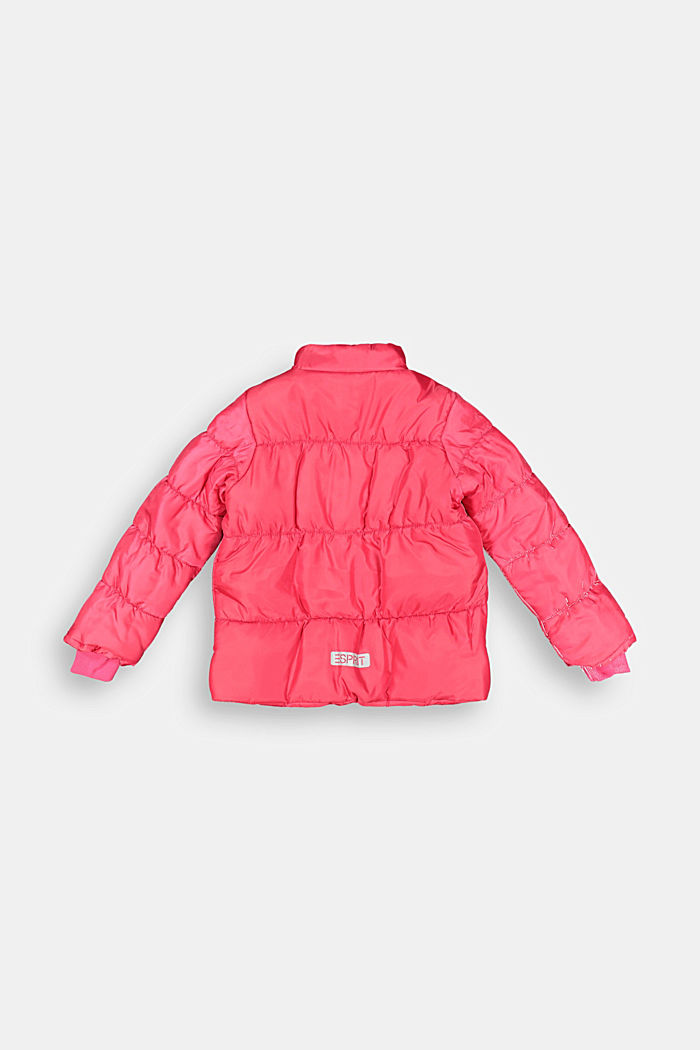 Padded quilted jacket with reflective details