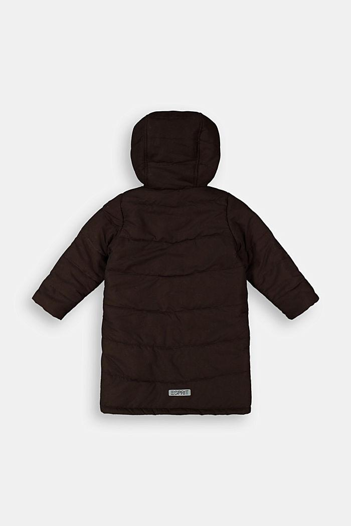 Manteau matelassé à doublure en maille polaire