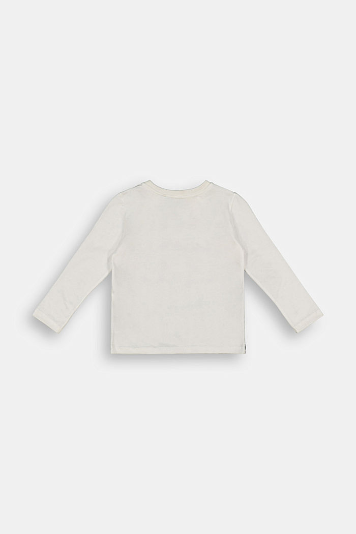 Printed long sleeve top in 100% cotton