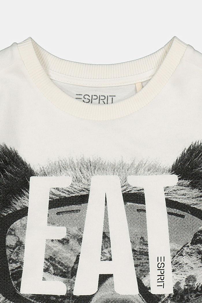 Printed long sleeve top in 100% cotton, SKIN BEIGE, detail image number 2