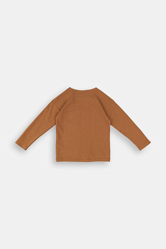 Longsleeve aus 100% Baumwolle, TOFFEE, detail image number 1
