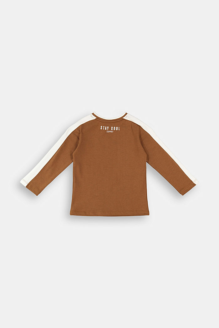 Embroidered long sleeve top made of 100% cotton