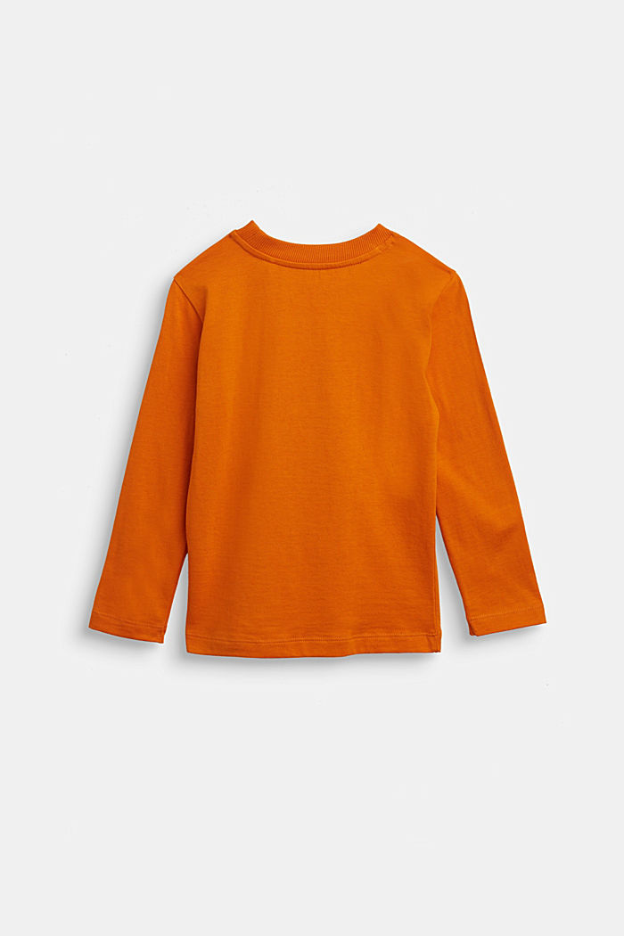 Long sleeve top with a bat print, RUST ORANGE, detail image number 1