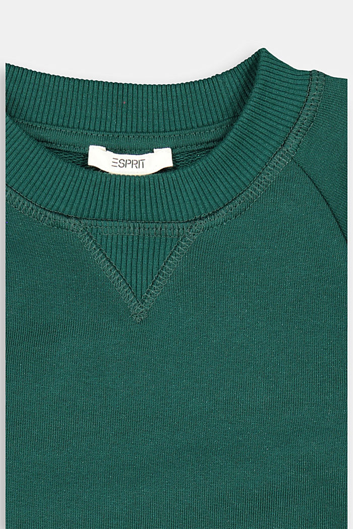 Basic sweatshirt made of 100% cotton, FOREST, detail image number 2