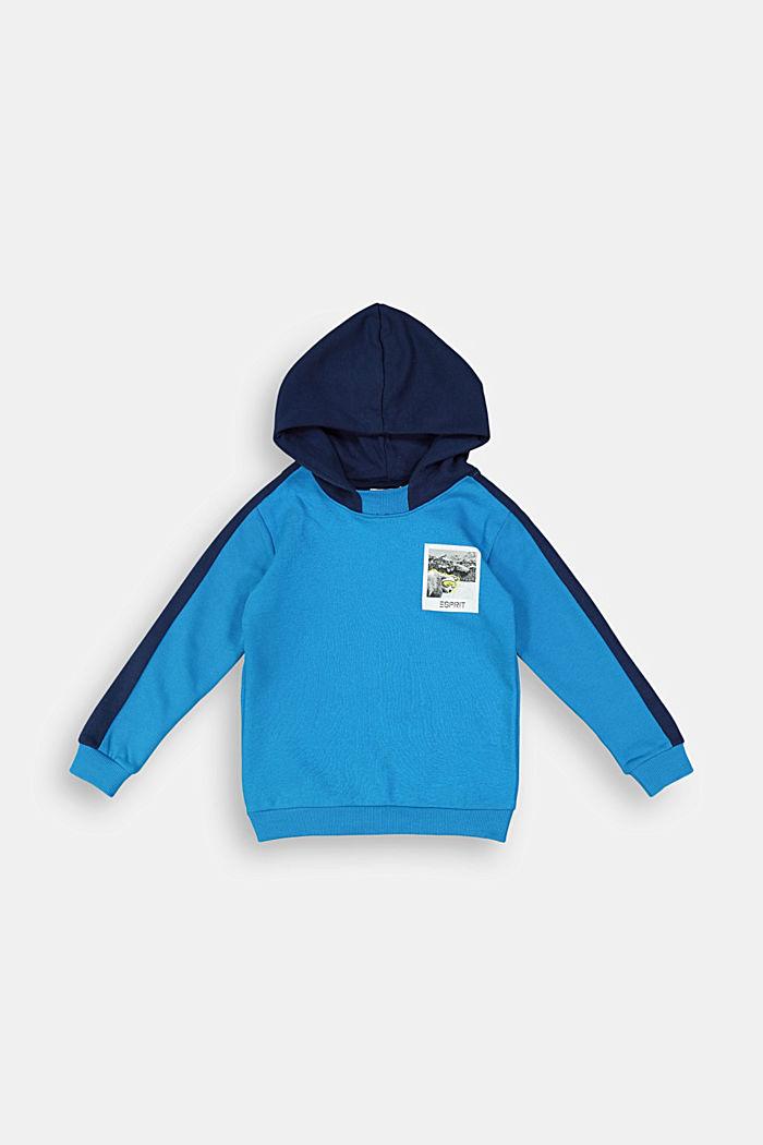 Sweatshirt hoodie in 100% cotton