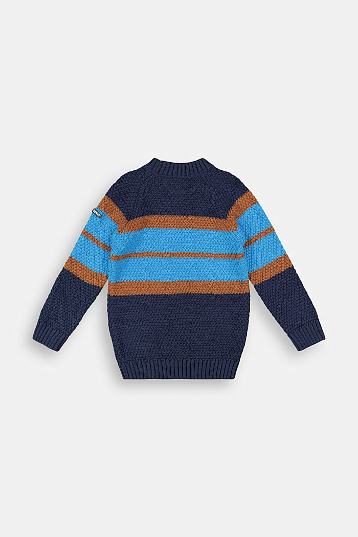 Jumper with colour block stripes