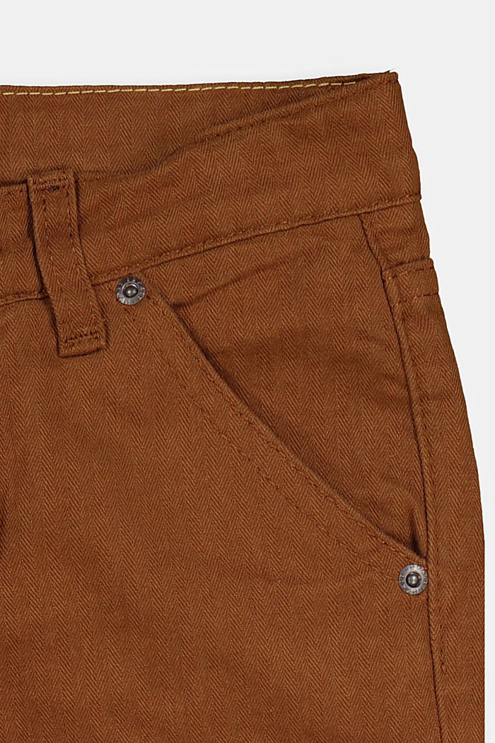 100% cotton cargo trousers, TOFFEE, detail image number 1