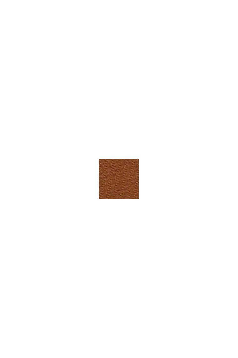 Cargobyxa i 100% bomull, TOFFEE, swatch