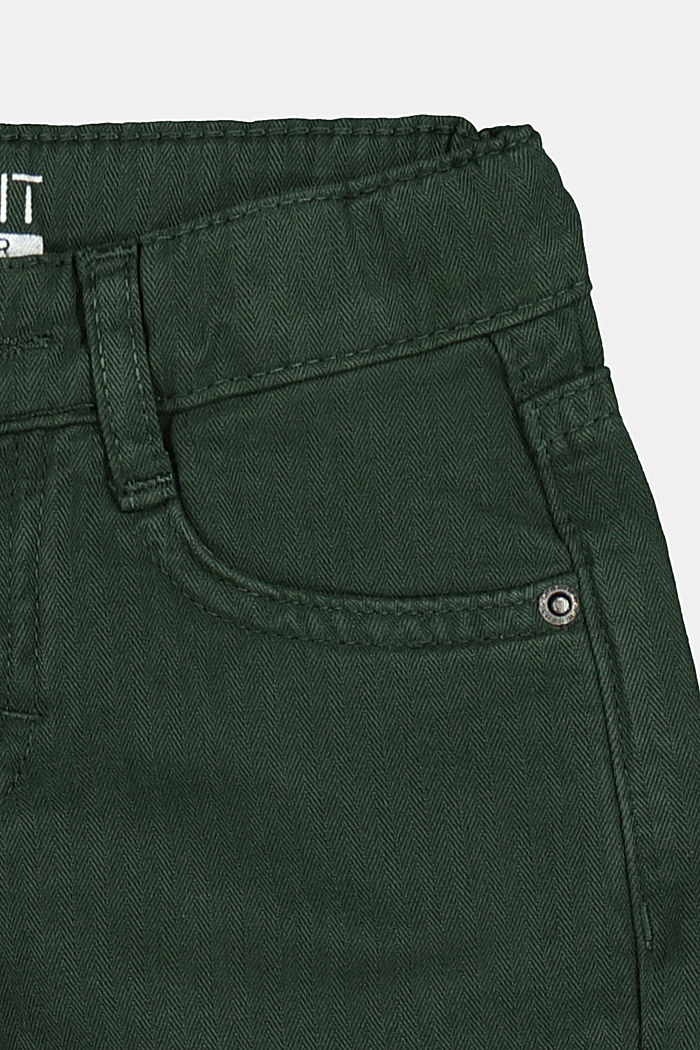 Textured trousers made of 100% cotton, FOREST, detail image number 1