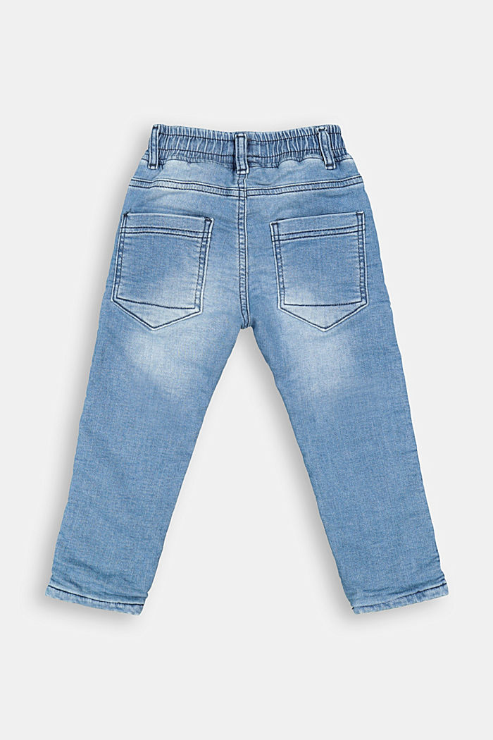 Slip-on jeans with jersey lining