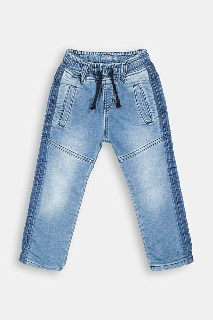 Schlupf-Jeans mit Jersey-Futter, BLUE MEDIUM WASHED, detail image number 0