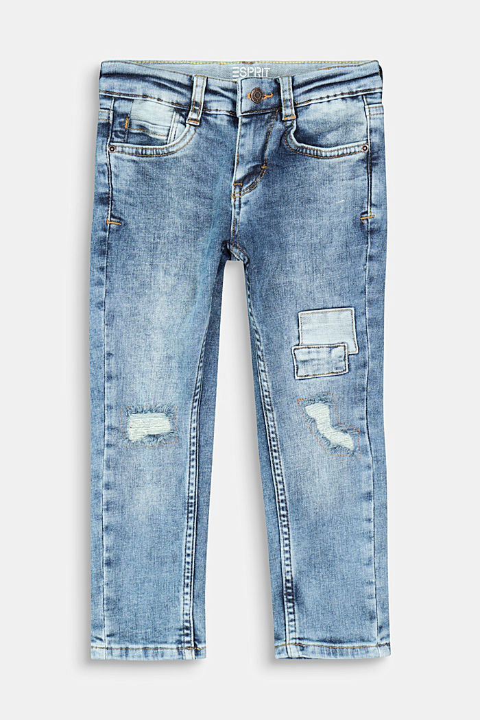 Jeans in a vintage look with appliqués