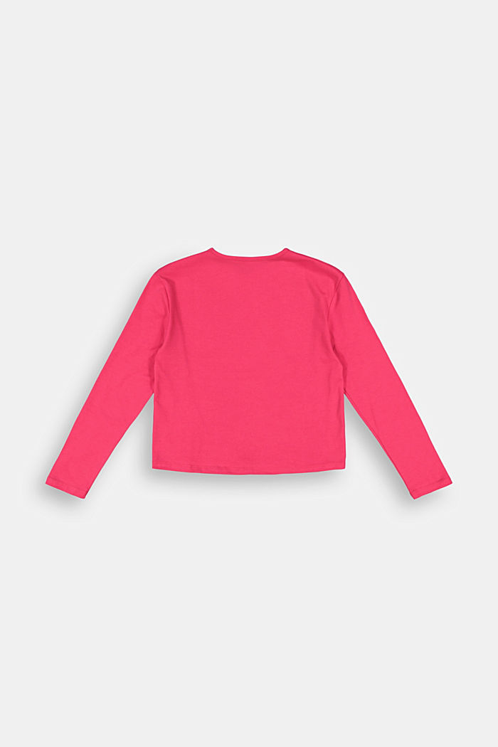 Long sleeve top with a wintry print, DARK PINK, detail image number 1