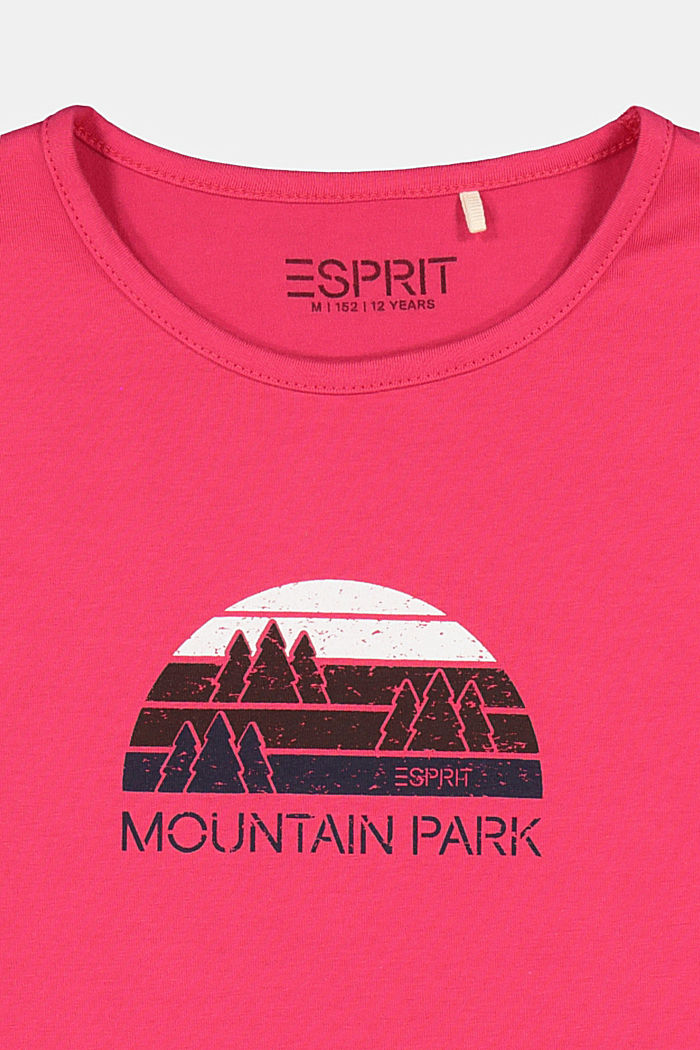 Long sleeve top with a wintry print, DARK PINK, detail image number 2