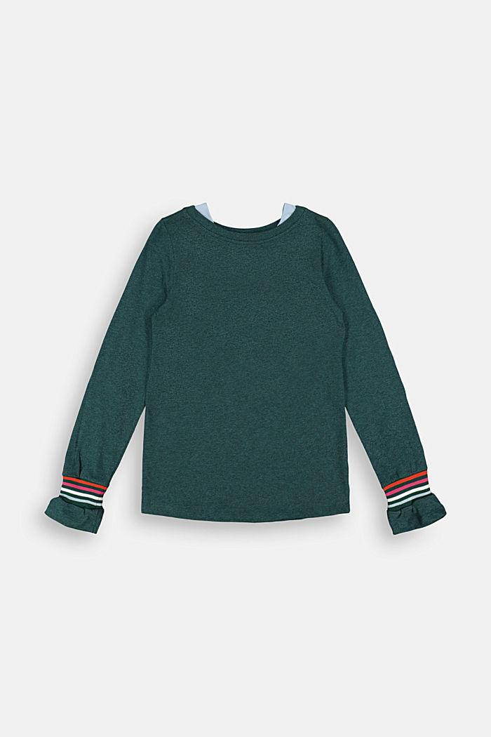 T-shirt à manches longues, 100 % coton