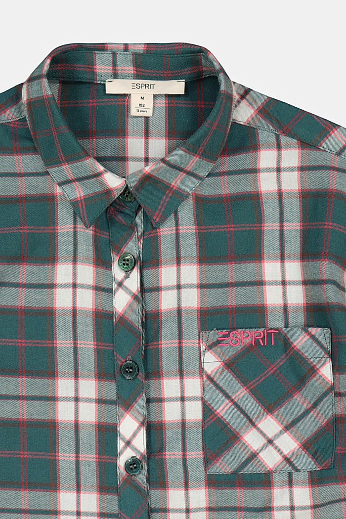 Check flannel shirt, FOREST, detail image number 2