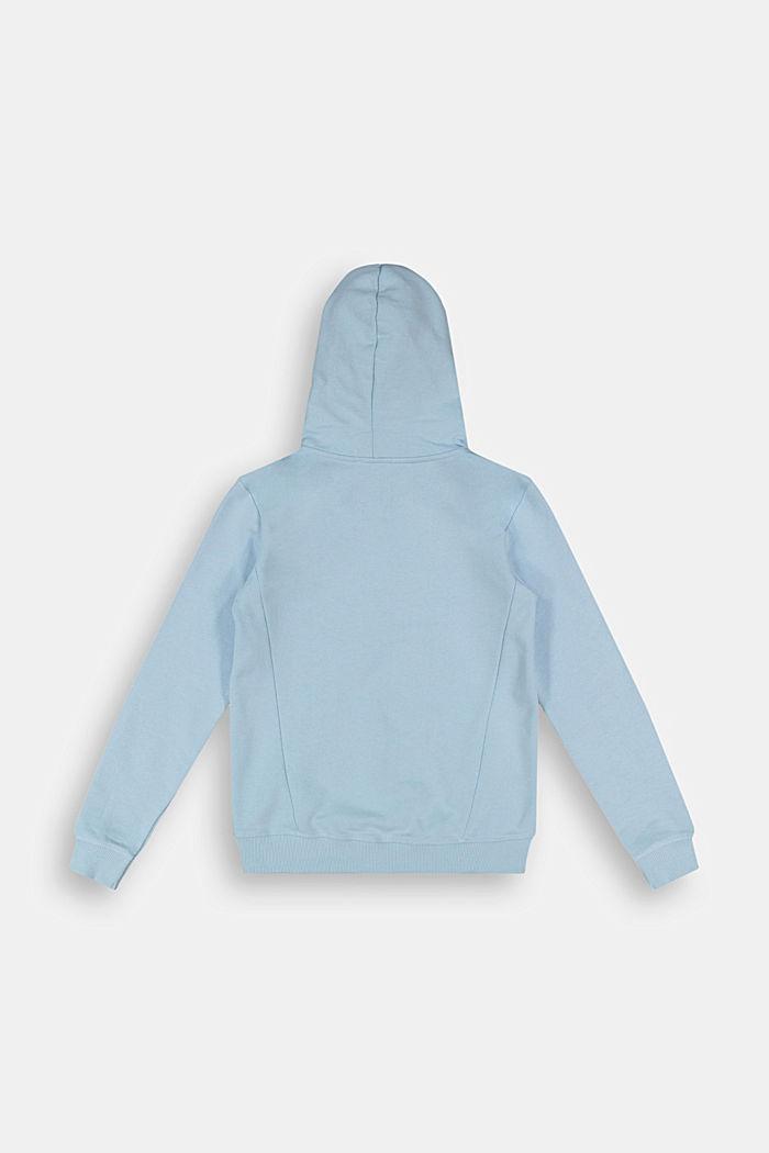 Hooded sweatshirt cardigan made of 100% cotton