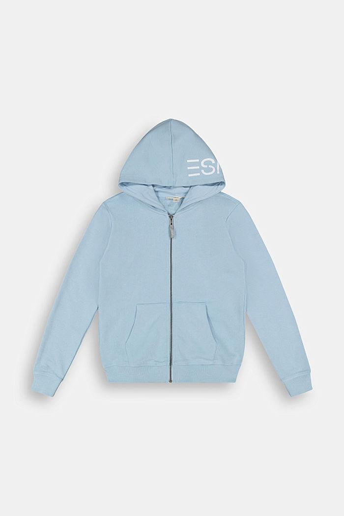 Sweat-Cardigan mit Kapuze aus 100% Baumwolle, BLUE LAVENDER, detail image number 0