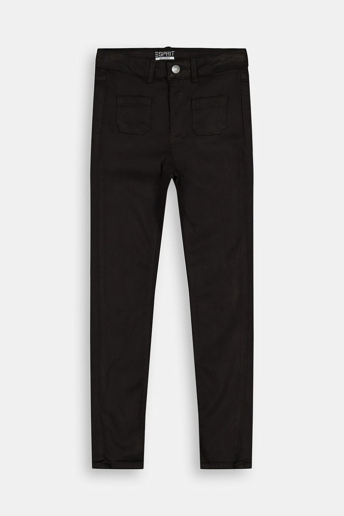 Slim-fitting stretch trousers in blended lyocell