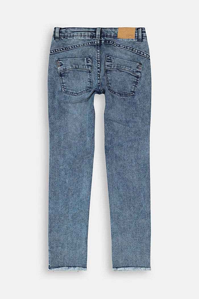 Stretchjeans met verstelbare band, BLUE MEDIUM WASHED, detail image number 1