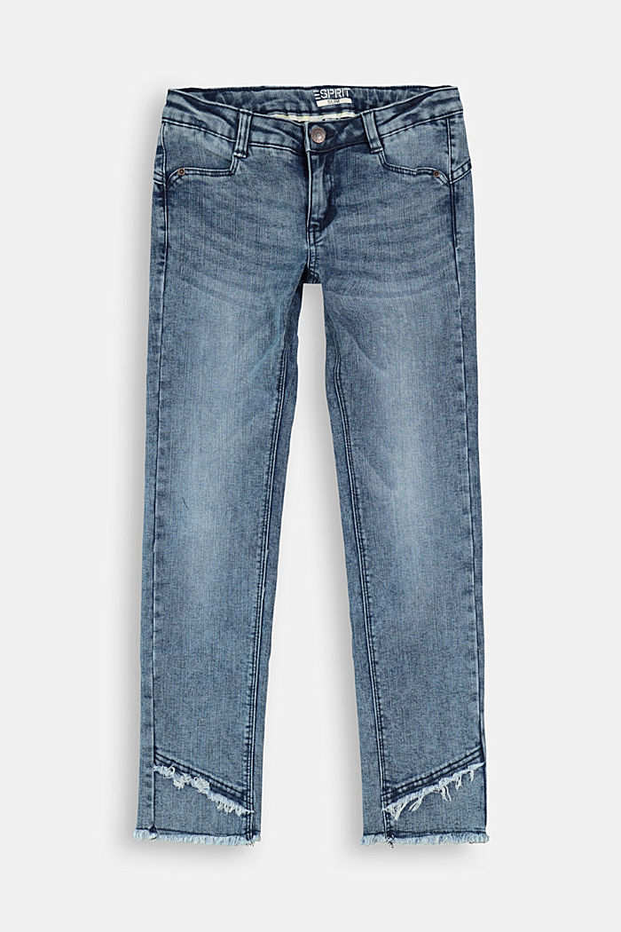 Stretchjeans met verstelbare band, BLUE MEDIUM WASHED, detail image number 0