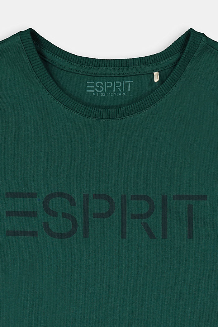 T-Shirt mit Logo-Print, 100% Baumwolle, FOREST, detail image number 2
