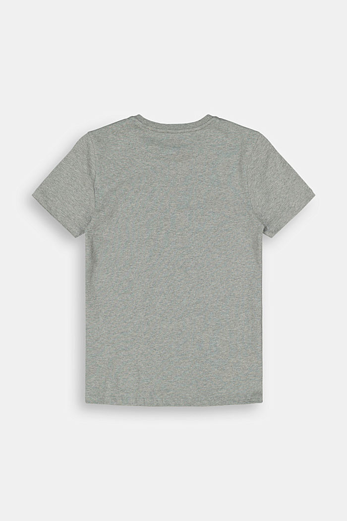Jersey T-shirt in 100% cotton, DARK GREY, detail image number 1
