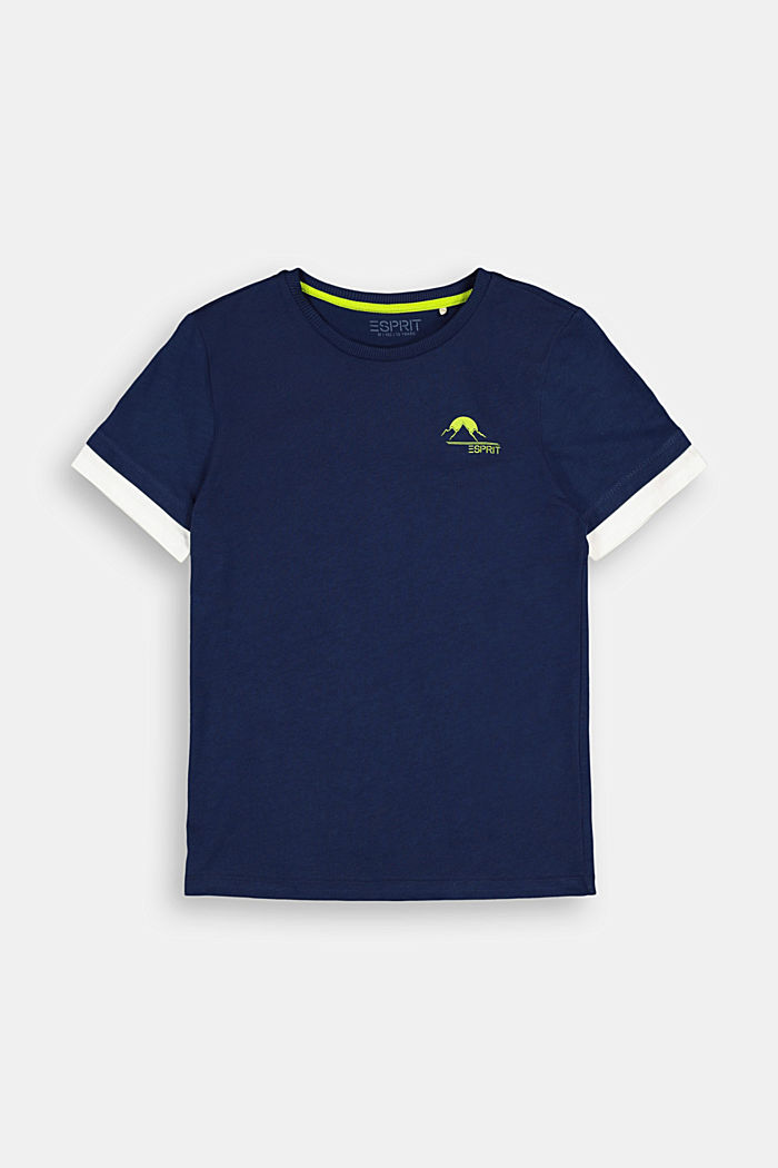Jersey T-shirt in 100% cotton, INK, detail image number 0