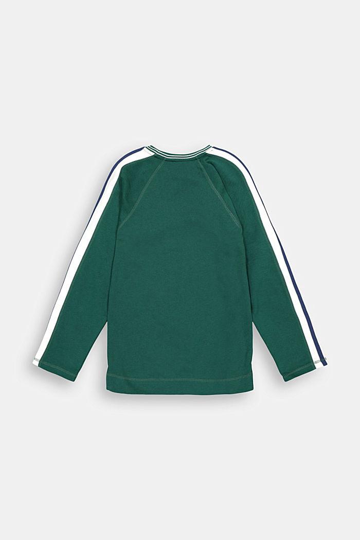 T-shirt à manches longues et rayures racing, 100% coton